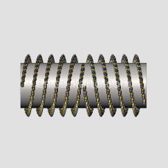 2m Fine Milling Drum LA6mm