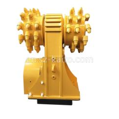 Double head rock cutter for excavator