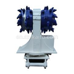 Excavator hydraulic rotary drum cutter